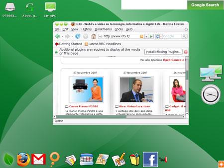 Il Desktop di gOS