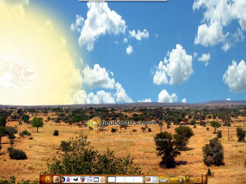 Il desktop di Geubuntu