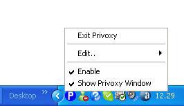 L'icona di gestione di Privoxy
