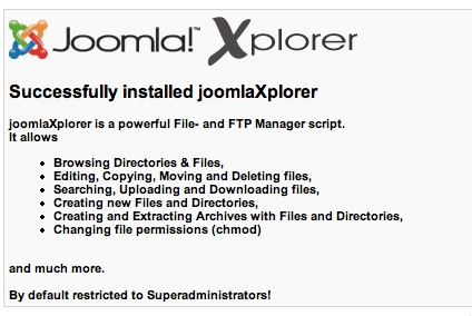 JoomlaXplorer