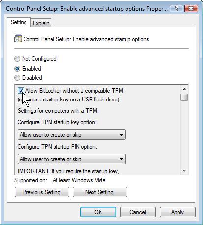 BitLocker, la soluzione di Windows Vista