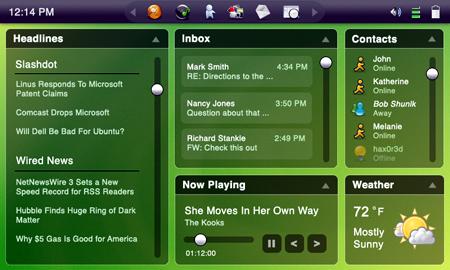 Il desktop di Ubuntu Mobile