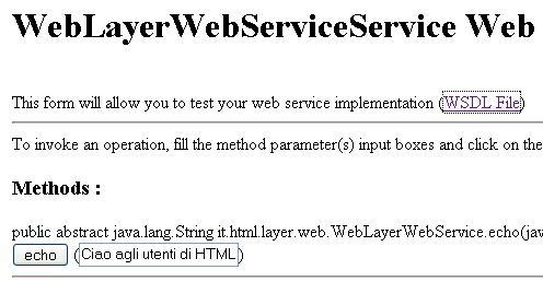 Test echo service