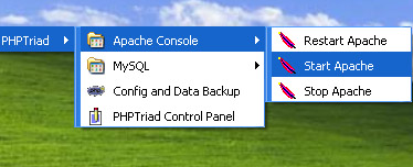Collegamenti veloci, PHPTriad