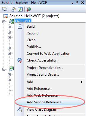Inserire il riferimento al Web service