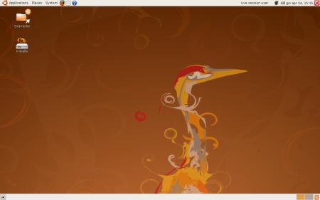 La grafica di Ubuntu 8.04 è solo ritoccata