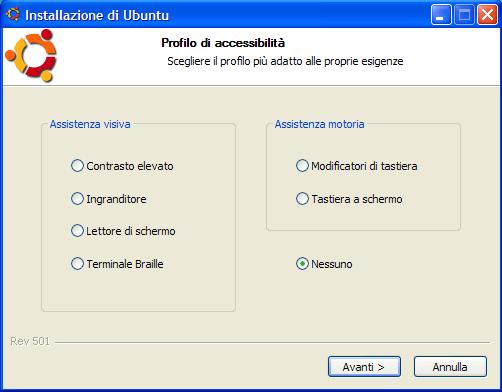 Le opzioni di accessibilità