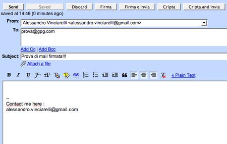 La crittografia con Gmail
