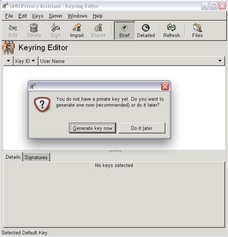 L'editor delle chiavi