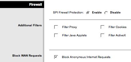 Il controllo del Firewall
