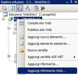 Inserire il riferimento Web