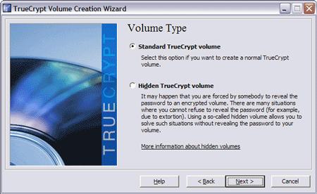 La creazione del volume protetto
