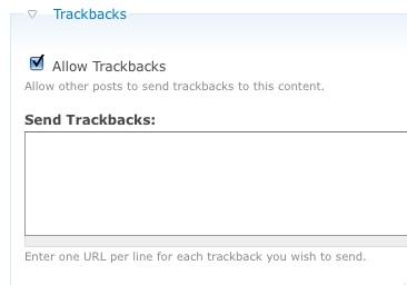 Inviamo un Trackback