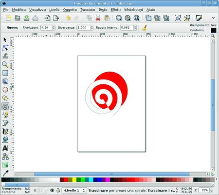 Interfaccia di Inkscape