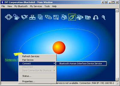 Interfaccia di BlueSoleil