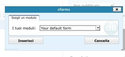 Il form di default
