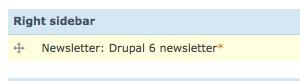 Il blocco newsletter