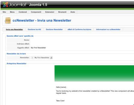Accediamo all'interfaccia di ccNewsletter