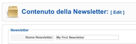 Modifichiamo la newsletter di default