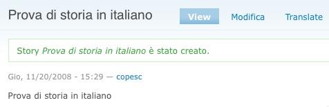 Prova storia in italiano