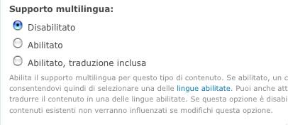 Supporto multilingua