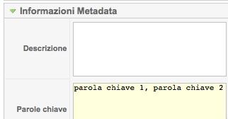 Informazioni Metadata