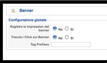 Configurazione banner
