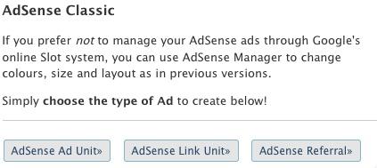 AdSense Classic