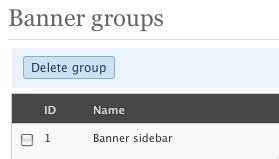 Gruppi di banner