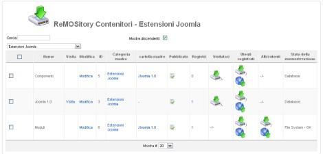 Gestione contenitori Remository