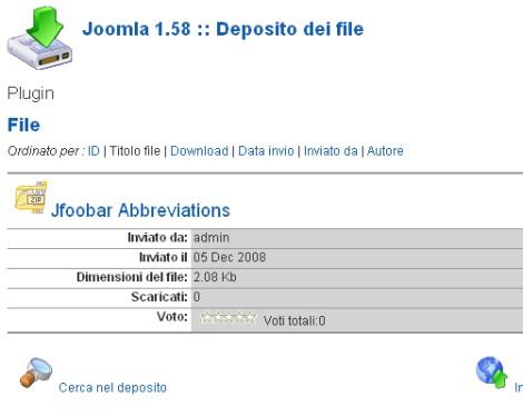 Il repository dei file