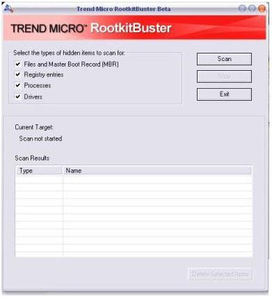 Immagine Trend Micro RootkitBuster