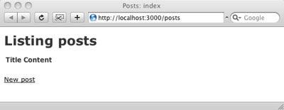 La lista dei post