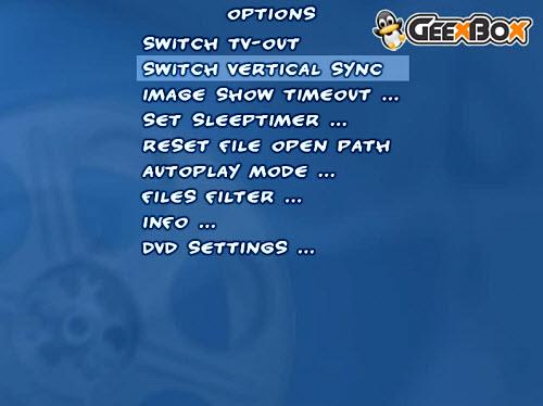 Figura 2: L'interfaccia di GeeXboX