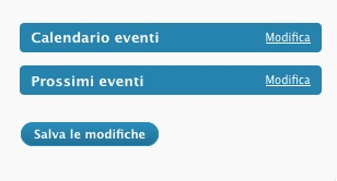 Il widget degli eventi