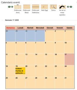 Eventi in programma