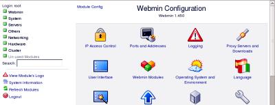 pagina di configurazione del programma