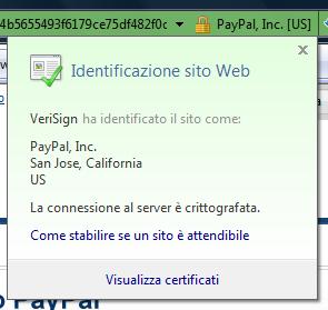 Certificato EV su Internet Explorer