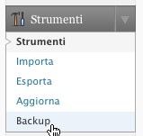 menu backup