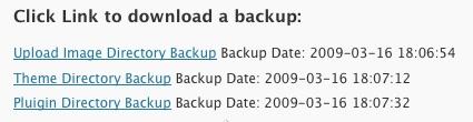 download WordPress Backup