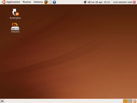 Il Desktop di Ubuntu 9.04 RC
