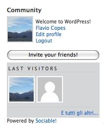 login profilo utente facebook