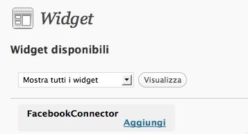 Widget Facebook Connector