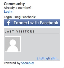 Widget Connect with Facebook