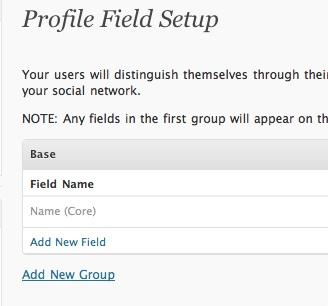 profile field buddypress