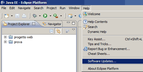 Software Updates di Eclipse