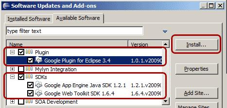Installare il plugin e l'SDK