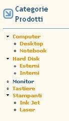 cck categorie prodotti
