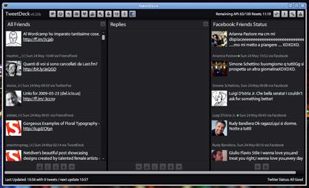 L'interfaccia di TweetDeck