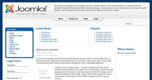 default template joomla